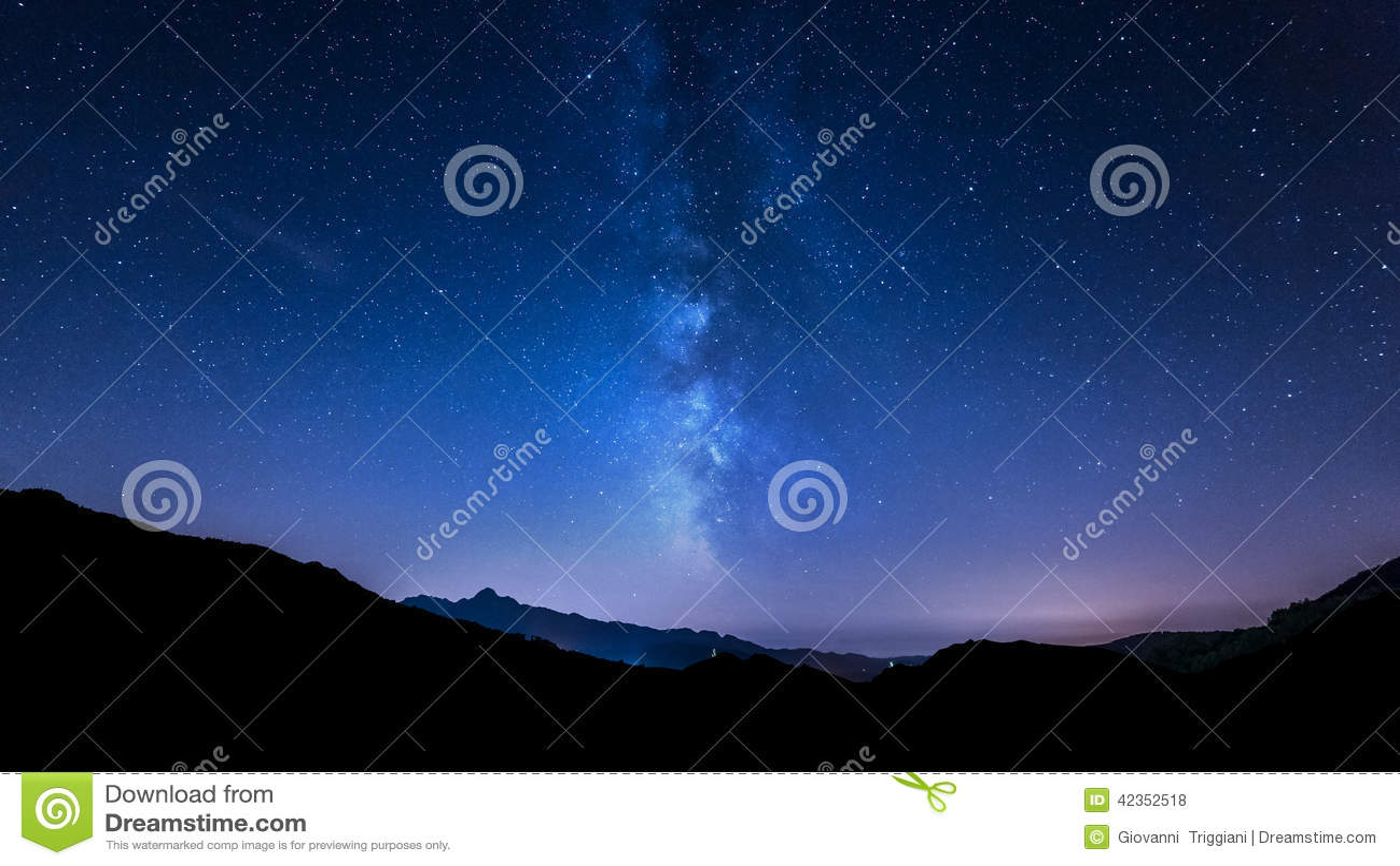 Night sky stars. Milky Way. Mountain background