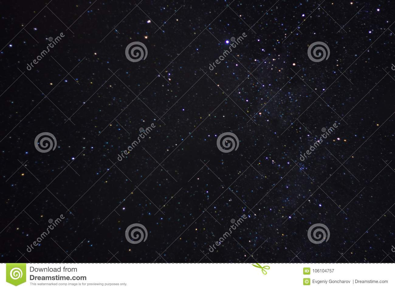 The night sky . stars