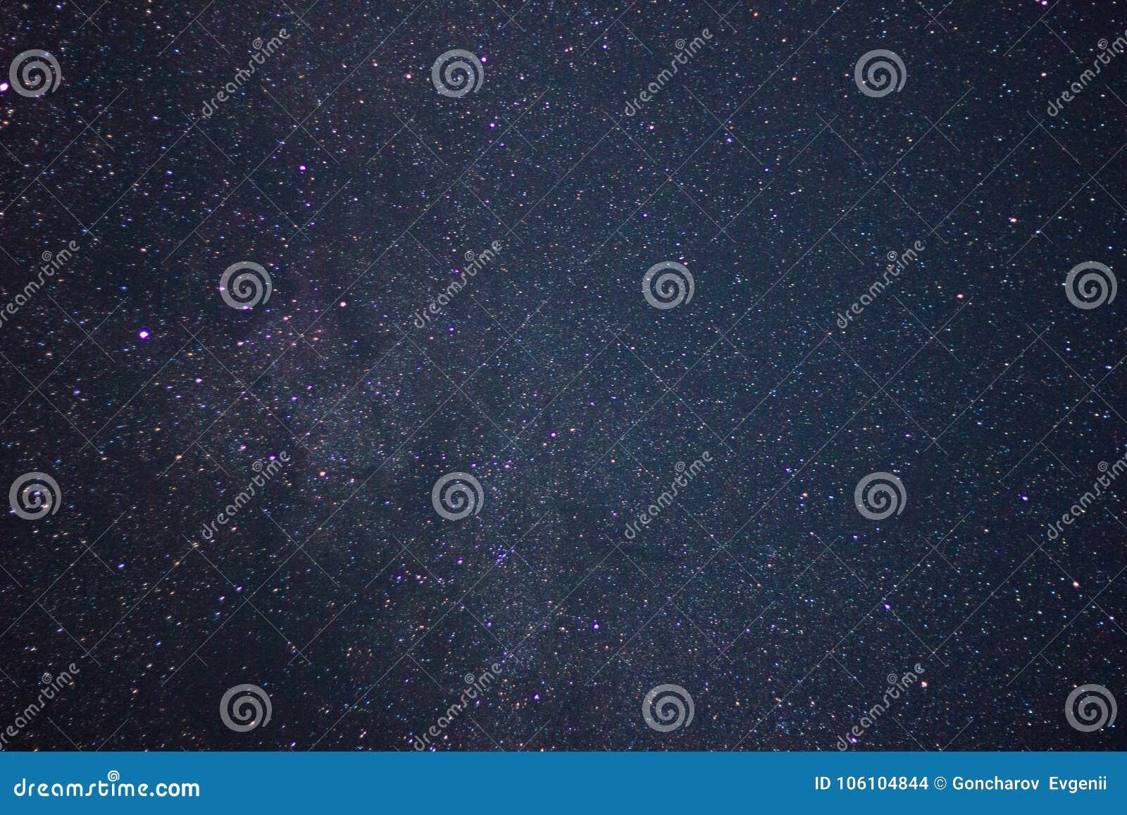 The night sky . stars