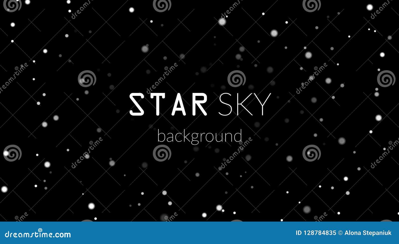 Night Sky With White Stars On Black Background Dark