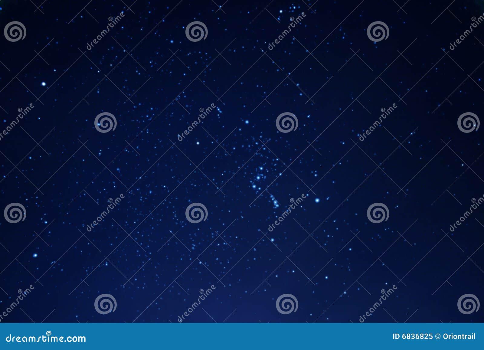 Night sky in winter