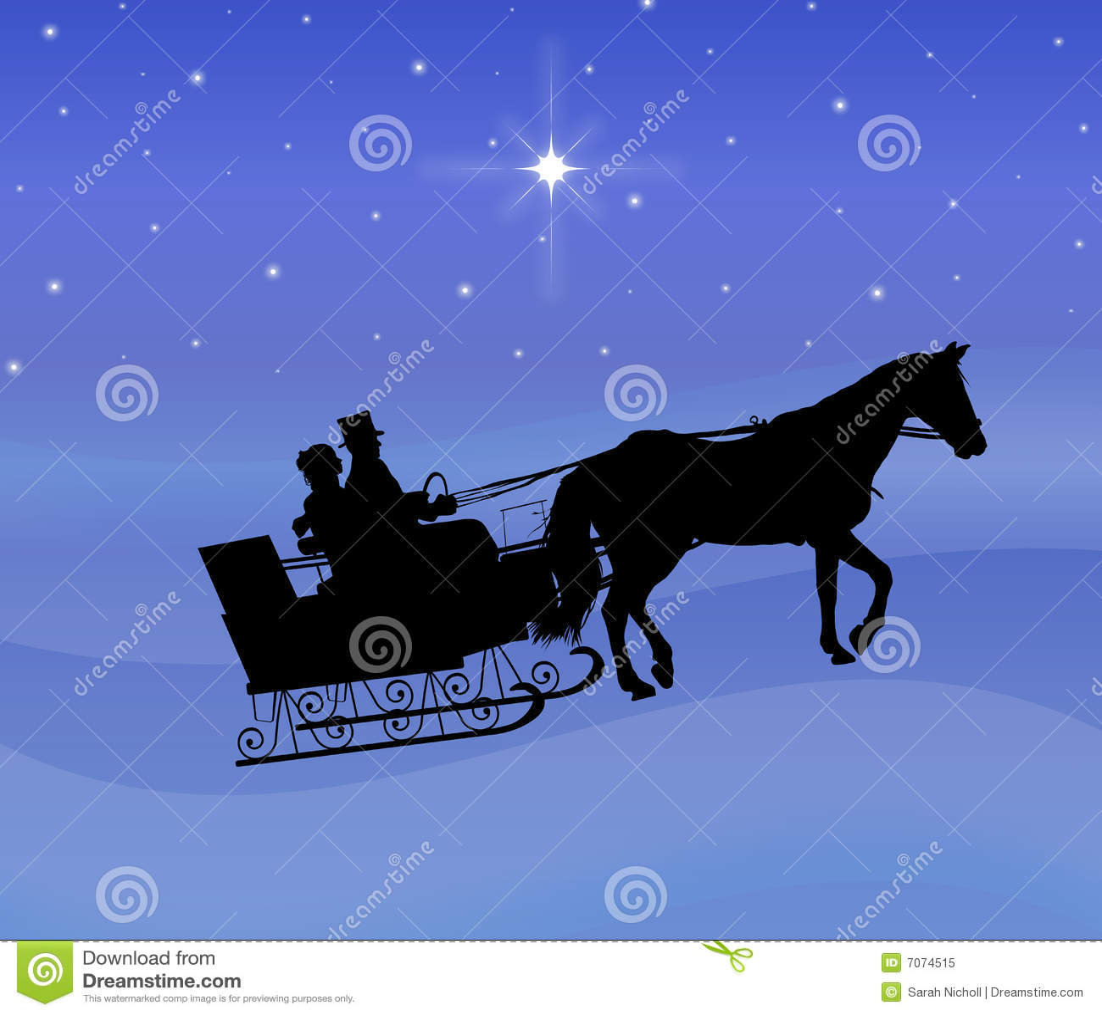 Night sleigh ride royalty free stock photo image 7074515