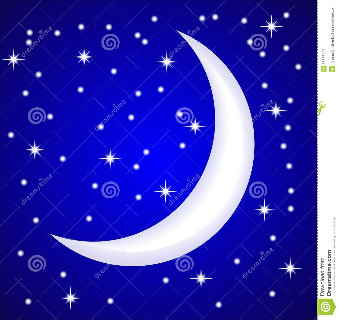 Night Star Sky And Month Stock Photos Image 35686403