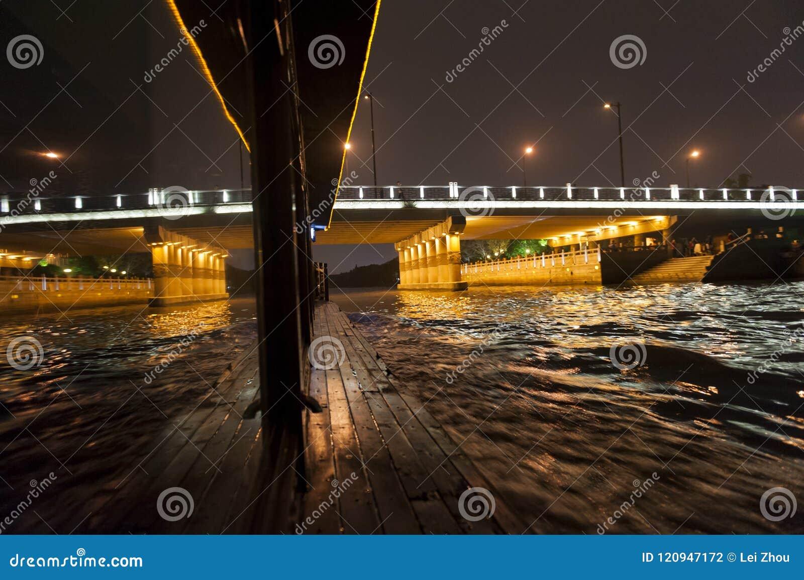 Reflection on the Suzhou River,Suzhou,China