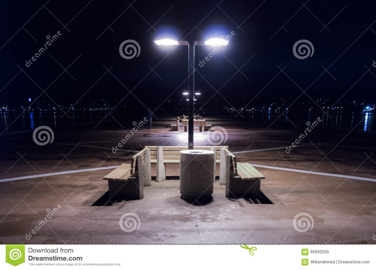 Night Time On A Lonely Pier In Halifax Nova Scotia Halifax City Lights Across The Harbor