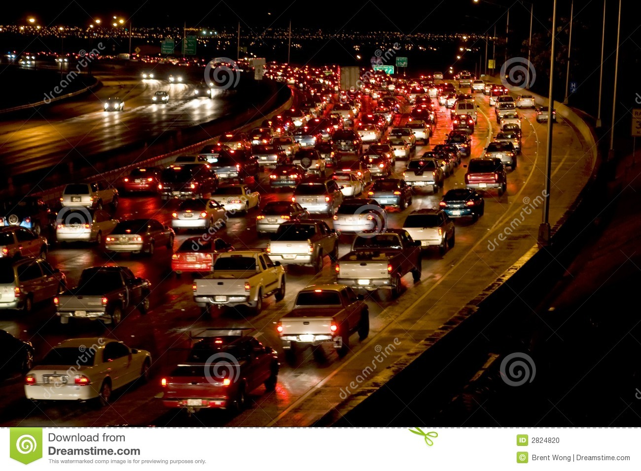 traffic at night by - photo #43