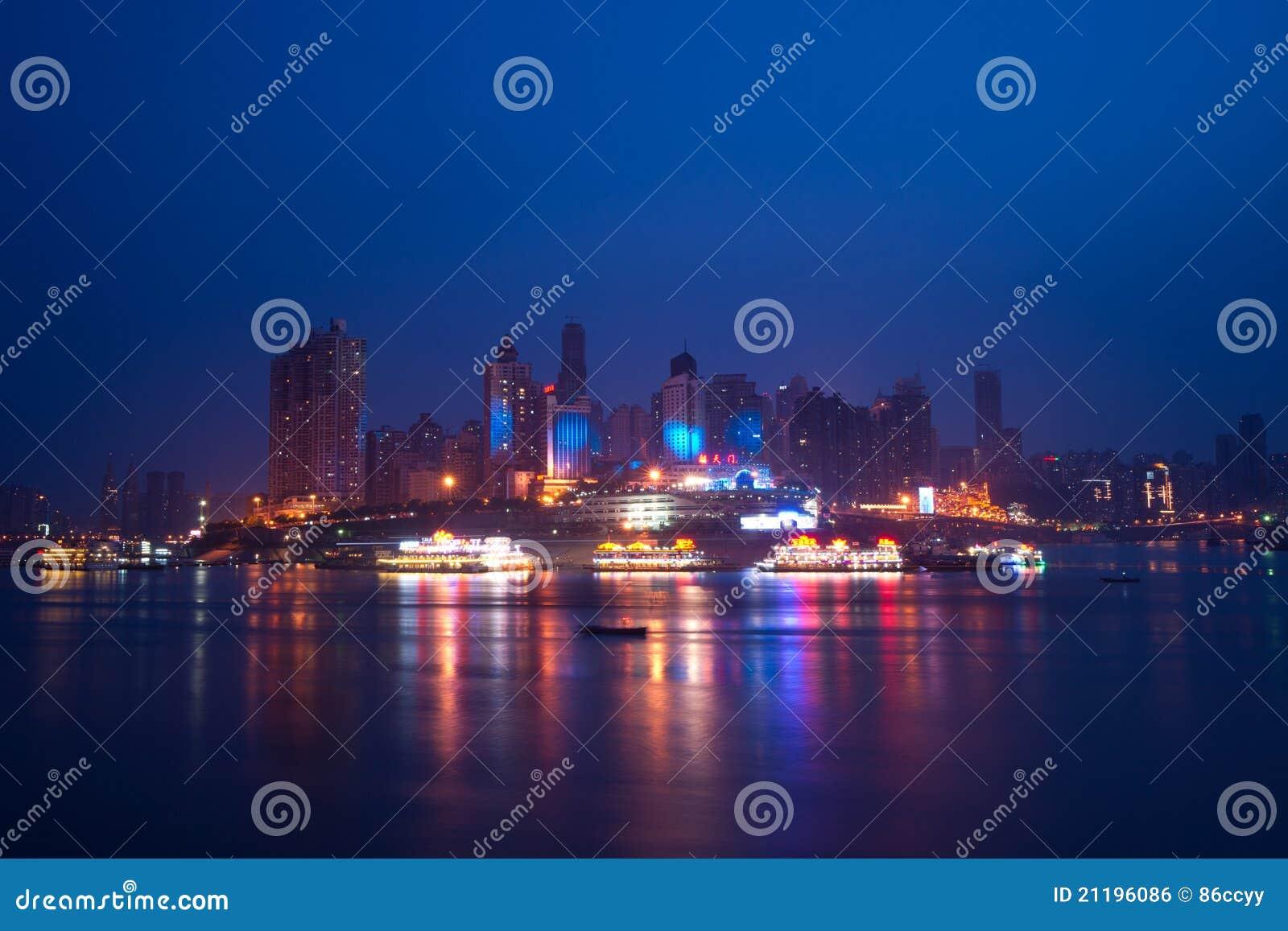 Night view of city, chongqing, china