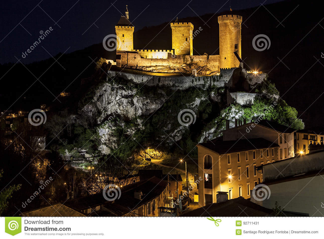 Night View of Foix