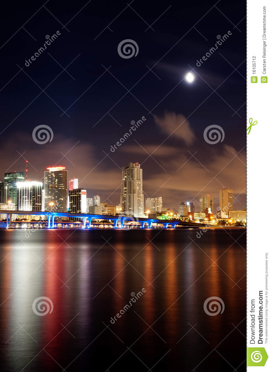 night skyline view of - photo #10