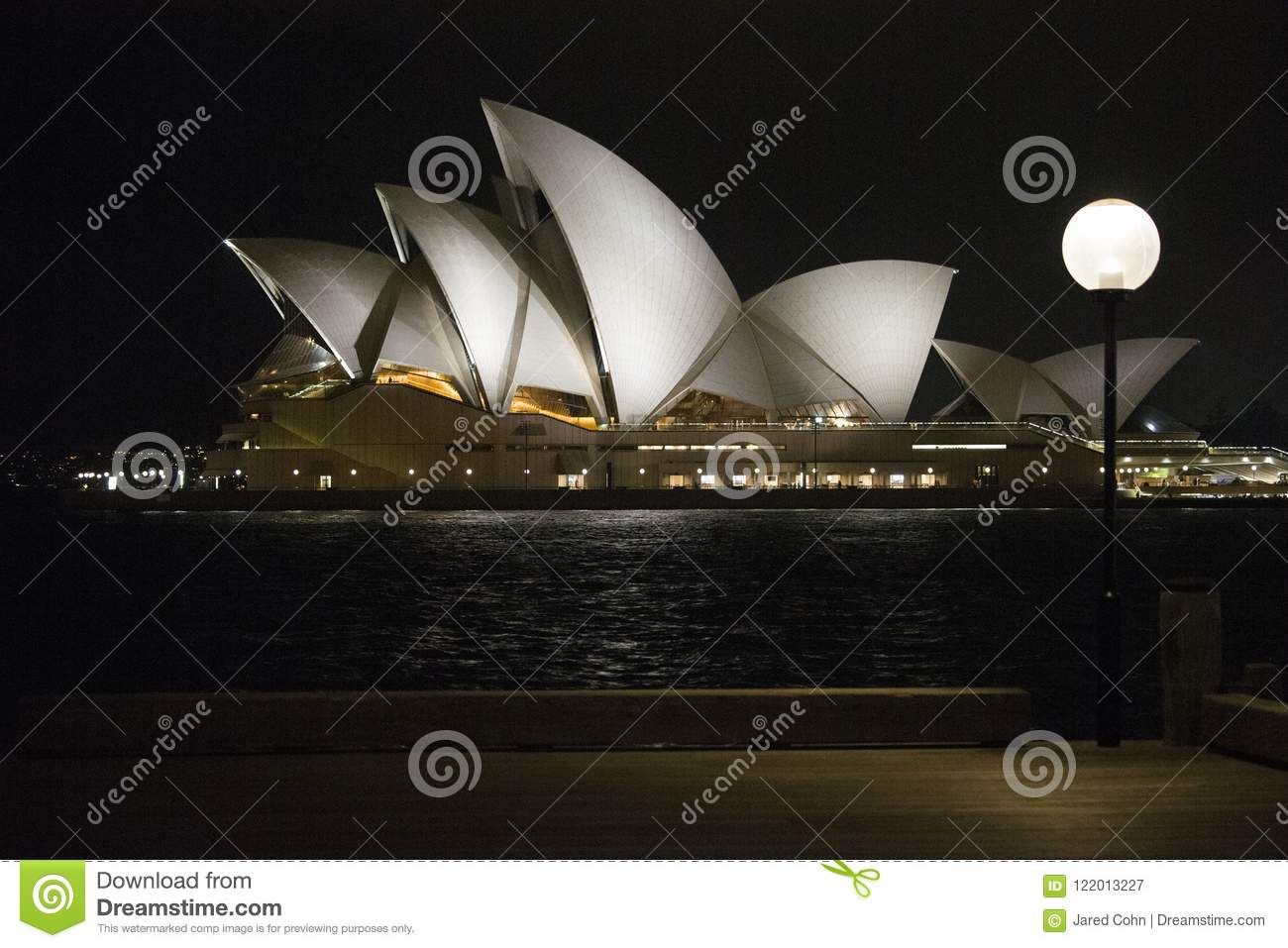 A Night View Of The Opera House In Sydney Australia Editorial