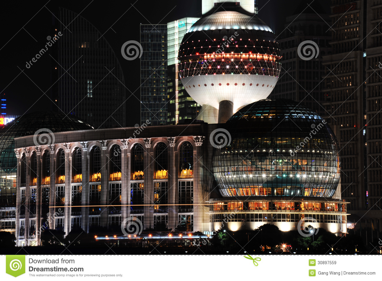 night view of shanghai international conference centertower editorial stock image image 30897559. Black Bedroom Furniture Sets. Home Design Ideas