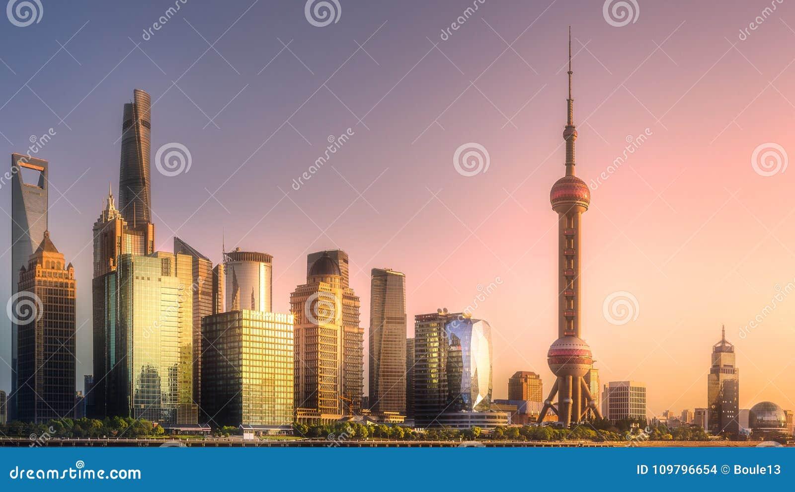 Night view of Shanghai skyline and Huangpu river