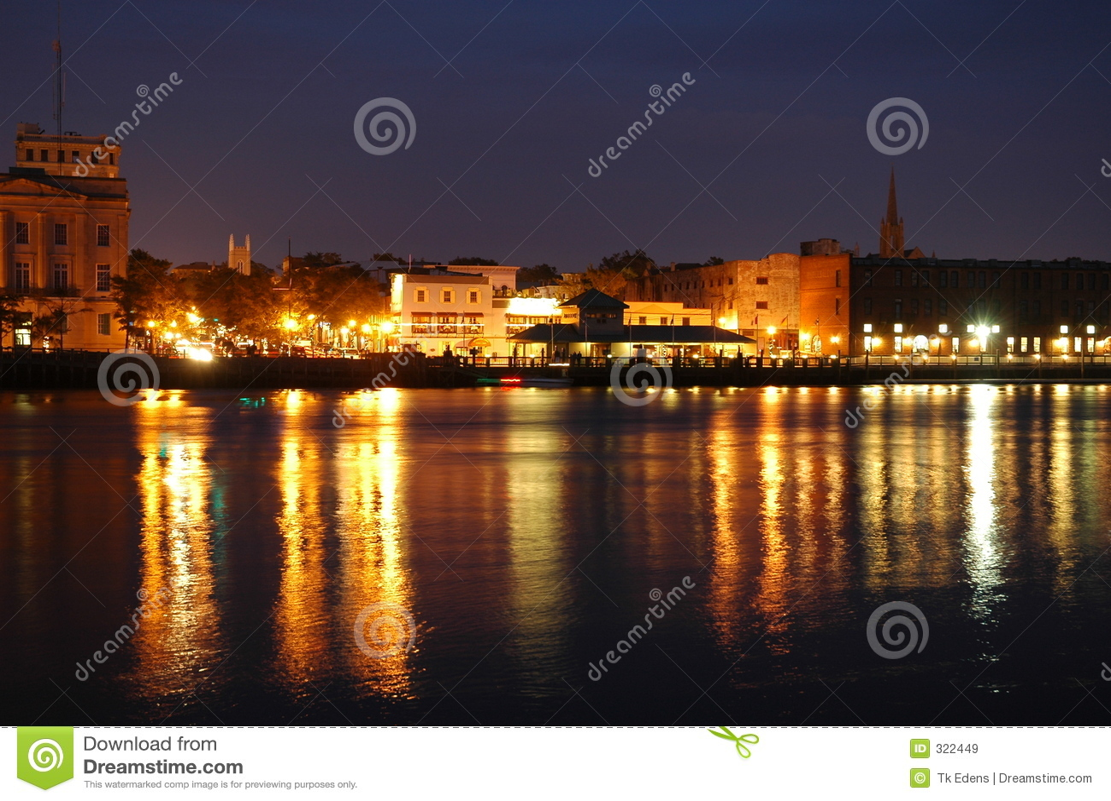 Night waterfront