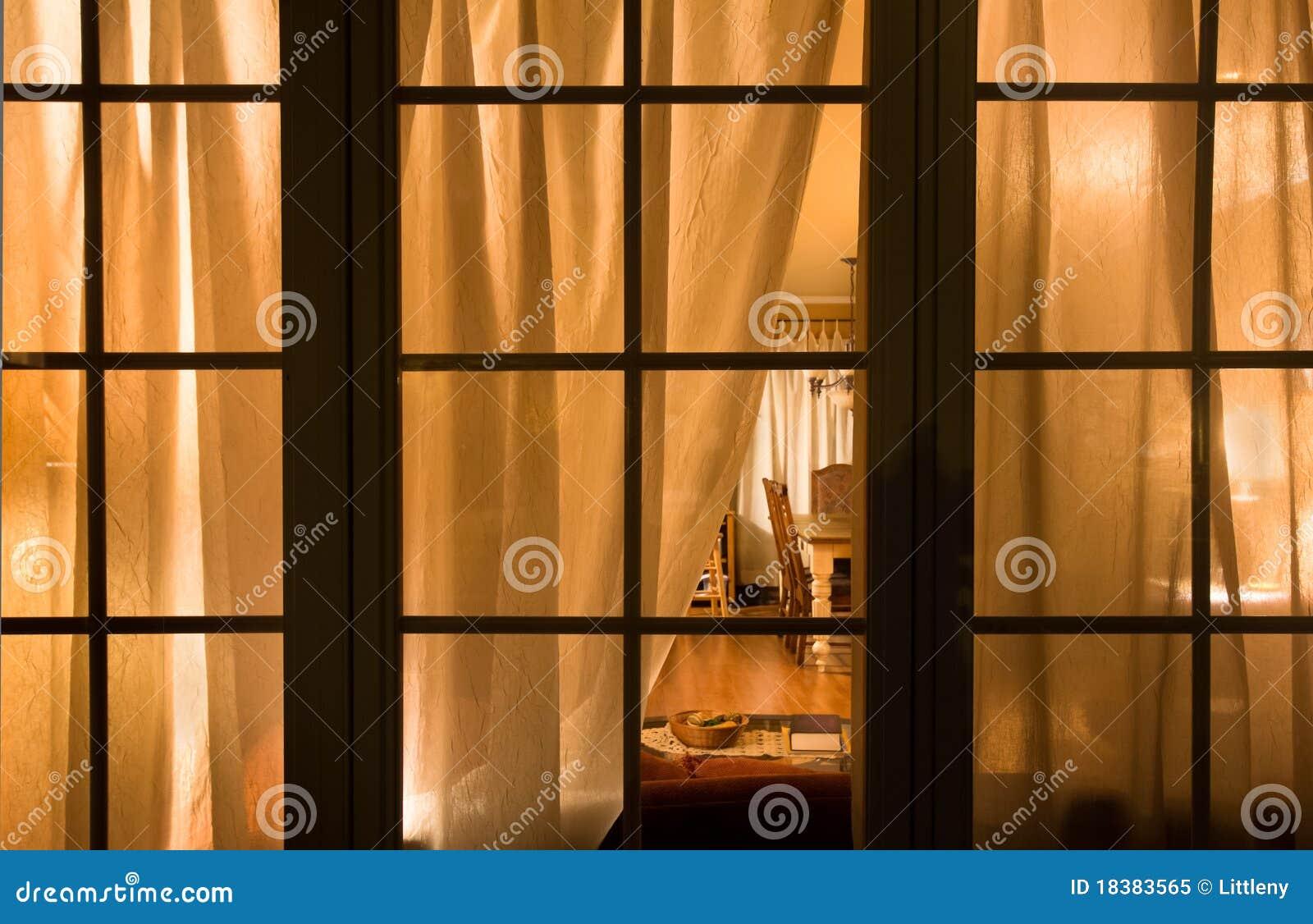 Window at night from inside - Home Interior Night Window