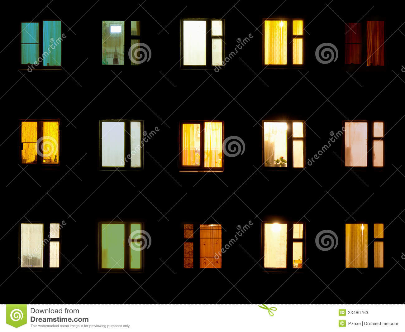 Seamless Texture - Night Windows Royalty Free Stock Images - Image ...
