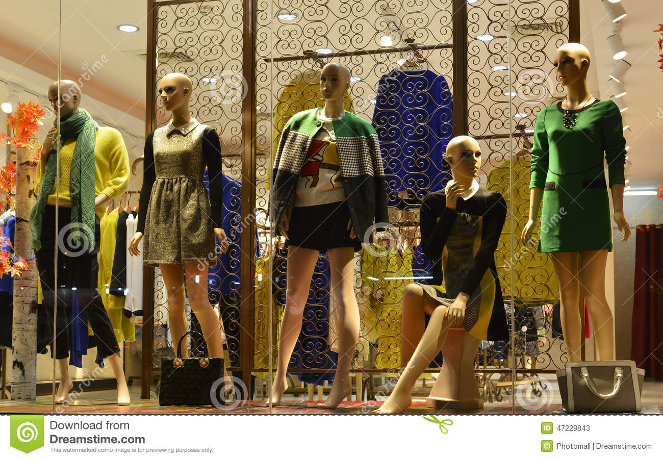 American Mannequin In Clothing Stores