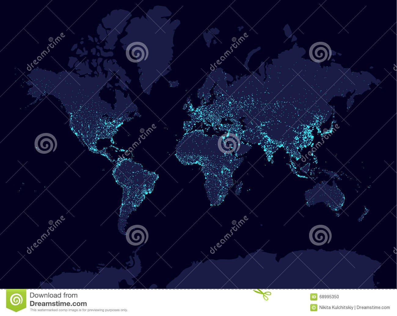 Night world map with population stock vector illustration of night world map with population gumiabroncs Images