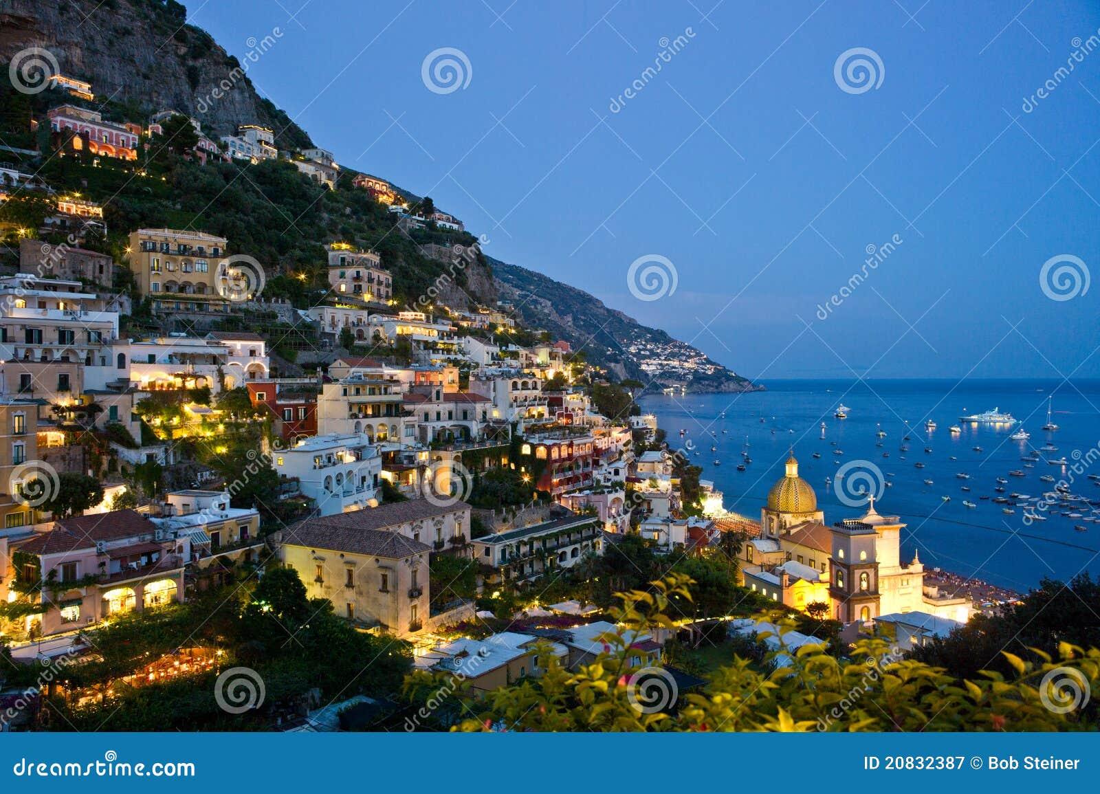 Nightfall in Positano