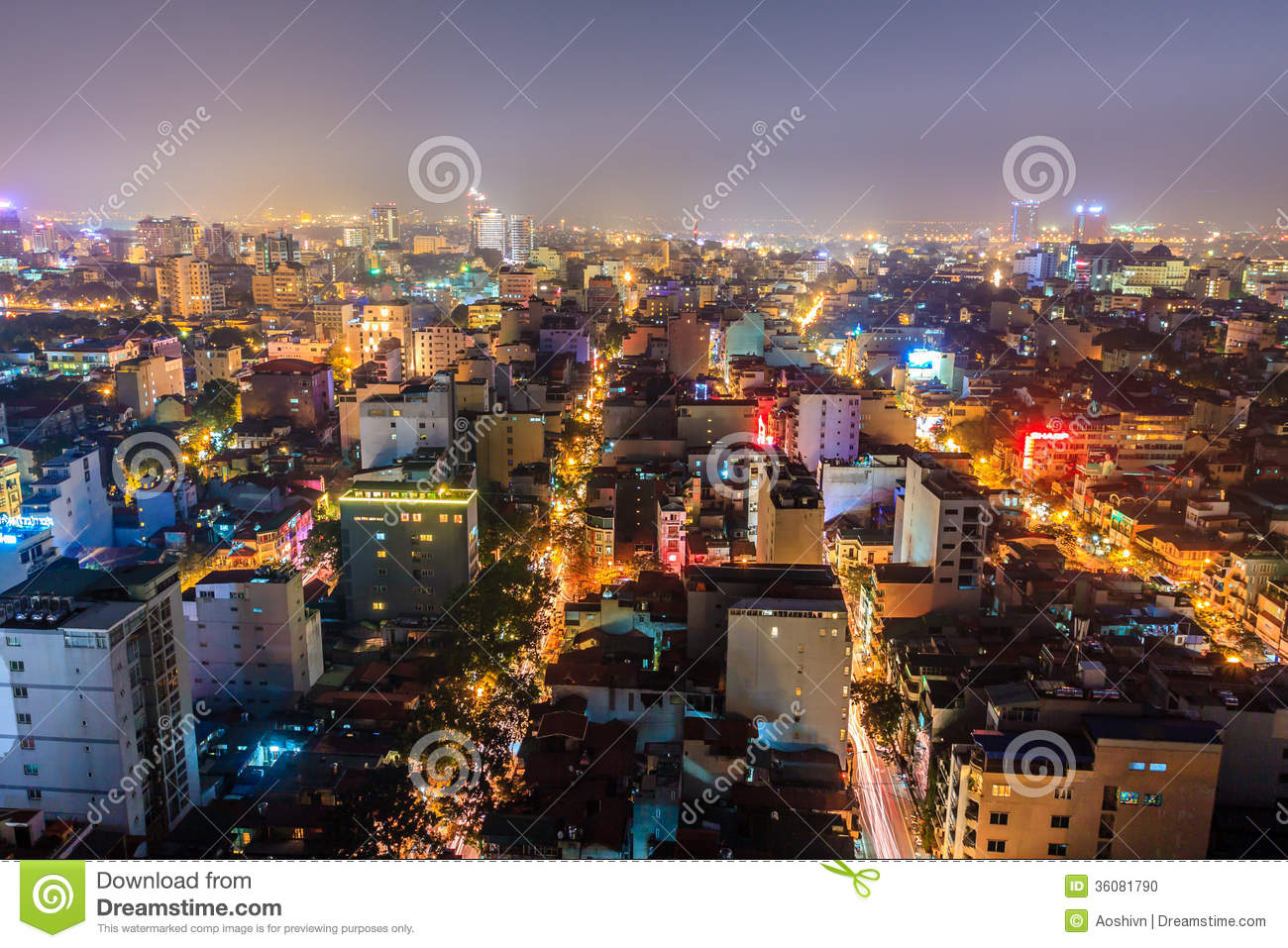Nightlife in Hanoi stock photo. Image of dusk, culture ...