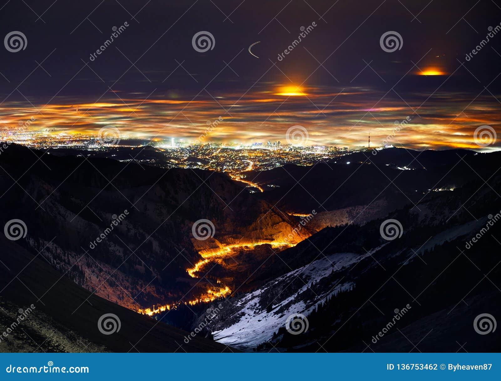 Nightscape города Алма-Ата