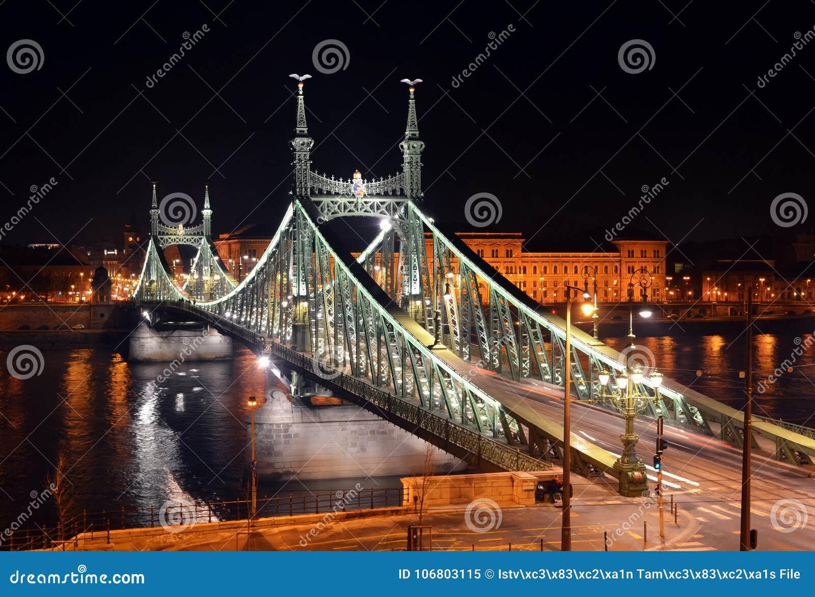 Nightscape моста свободы, Будапешт