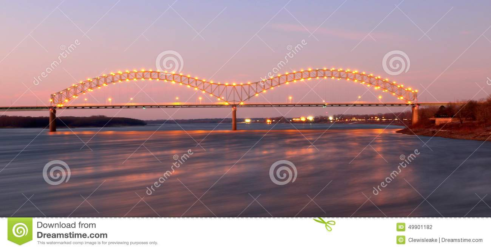 Nightscape av Memphis Arkansas Bridge