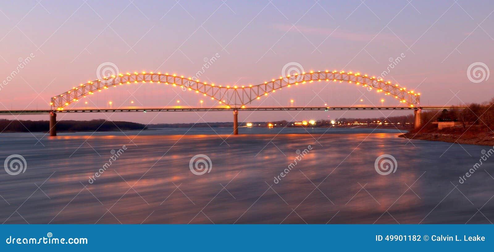 Memphis Arkansas Bridge Nightscape