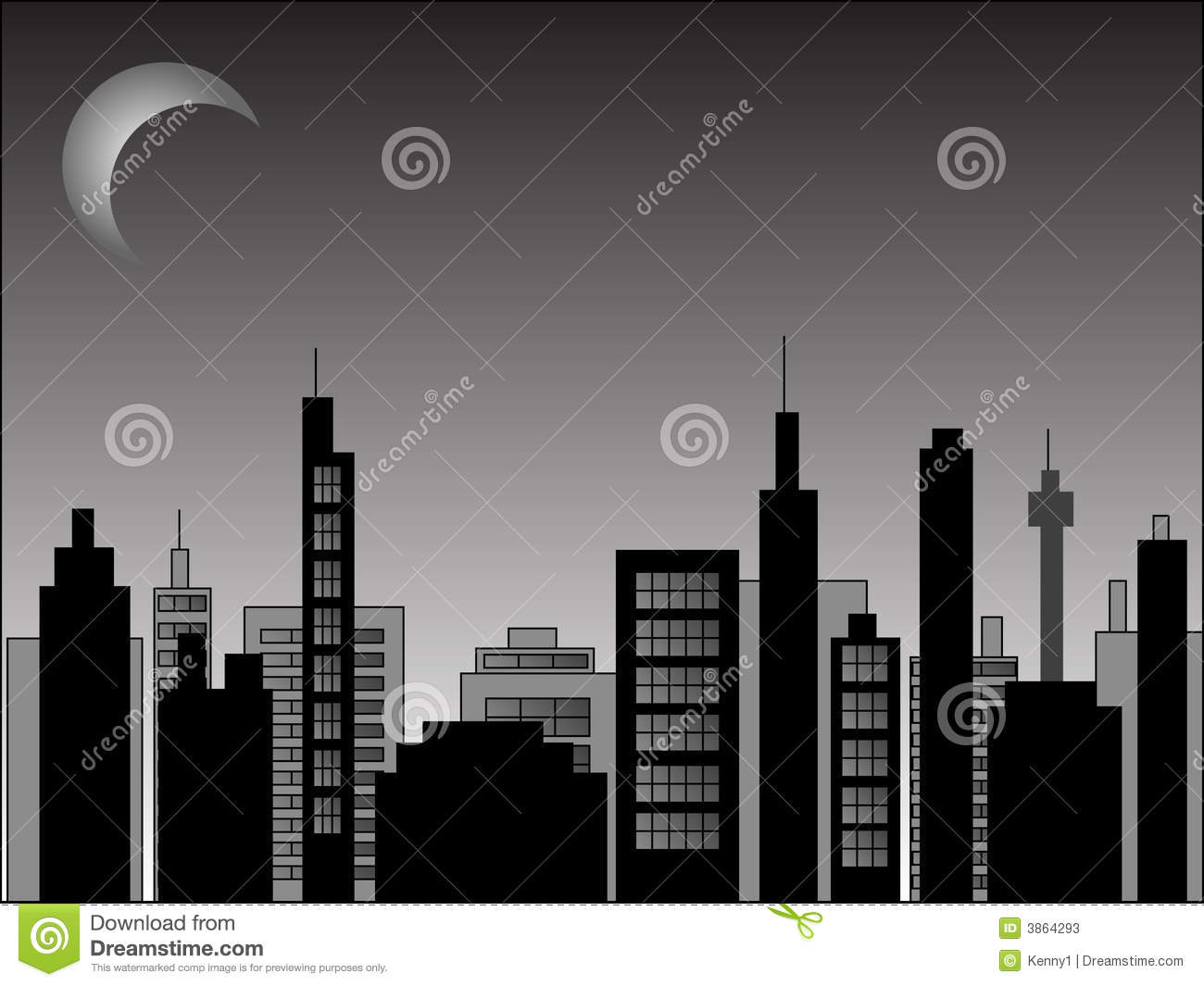 nighttime cityscape stock vector image of city cityscape