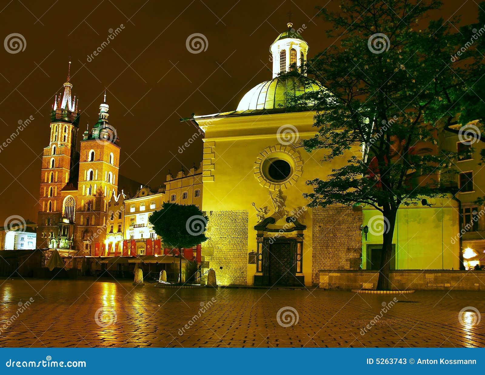 Nighttime Krakow
