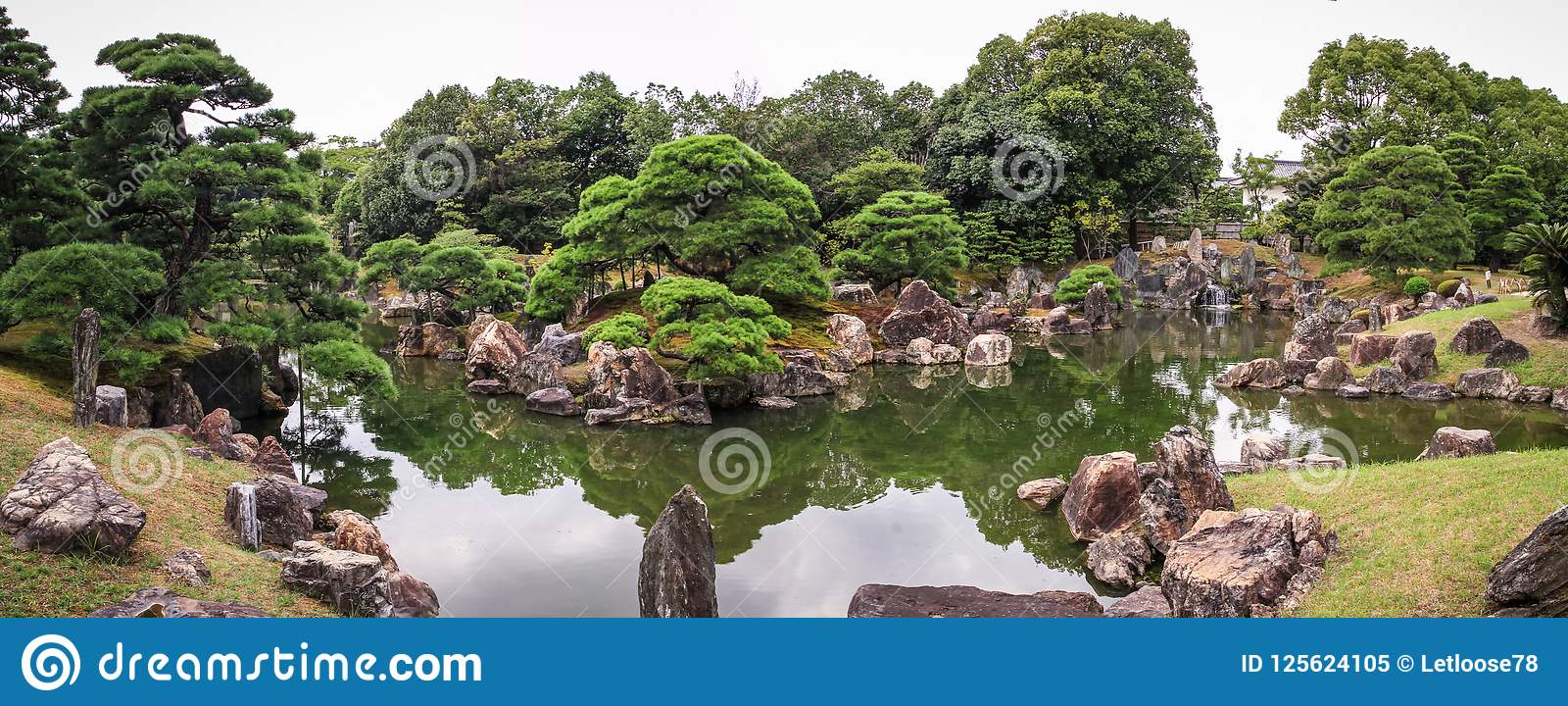 Nijo城堡从事园艺全景,京都,神西,日本