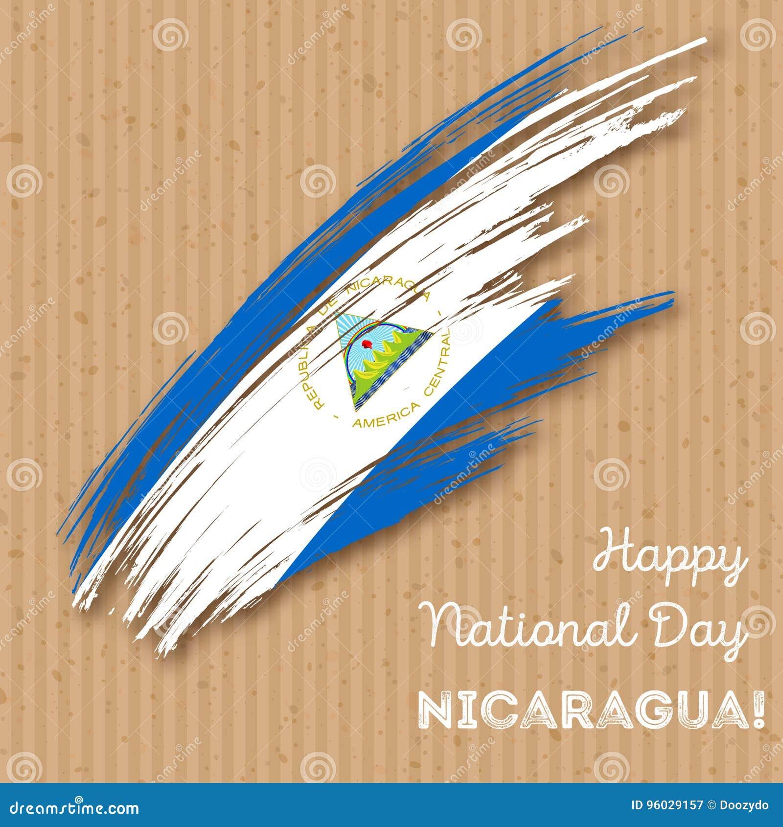 Nikaragua dnia niepodległości Patriotyczny projekt