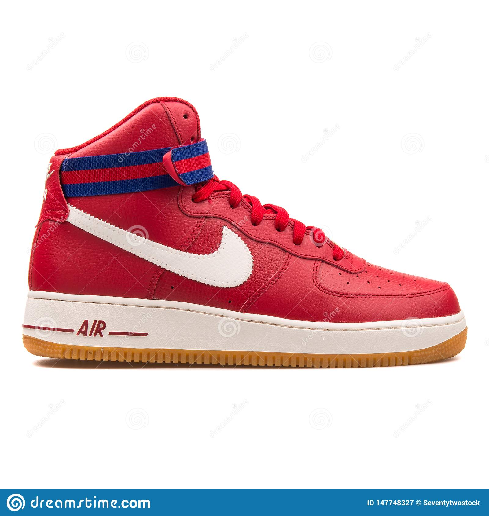Nike Air Force 1 High 07 Red And Blue Sneaker Editorial