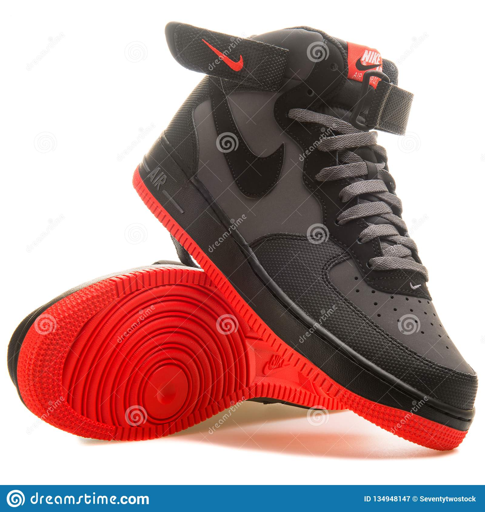 nike air force 1 rojas y blancas