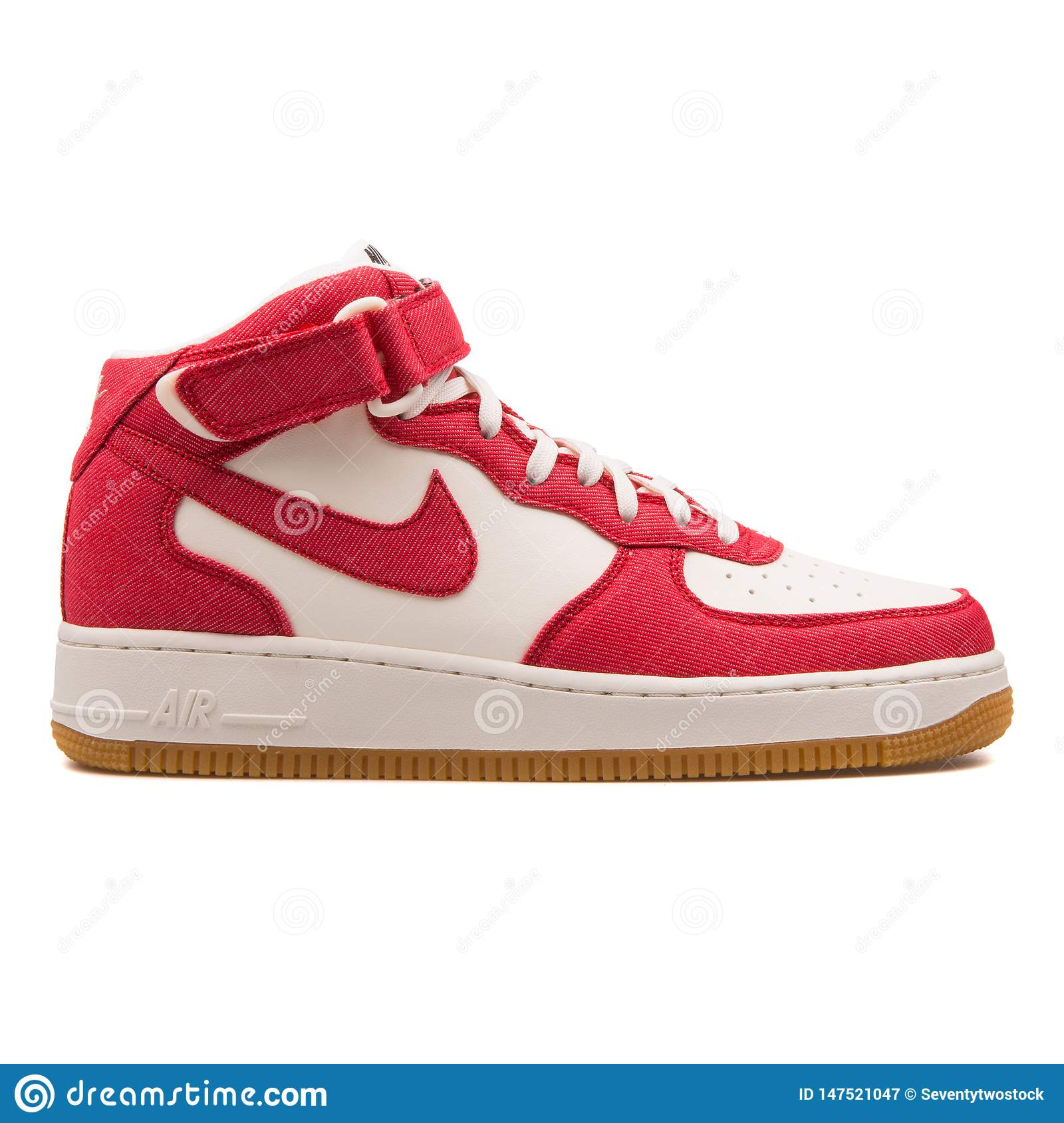 Nike Air Force 1 Mid 07 Red And Off White Sneaker Editorial