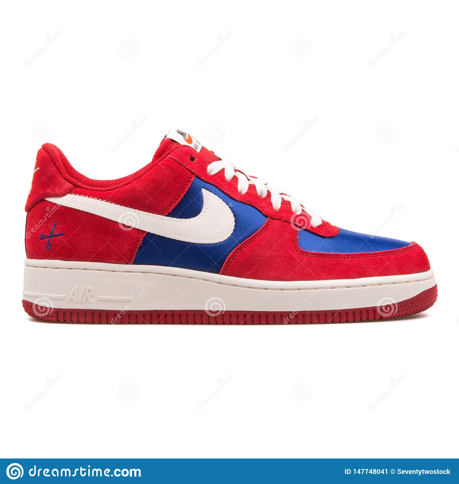 air force 1 red and blue