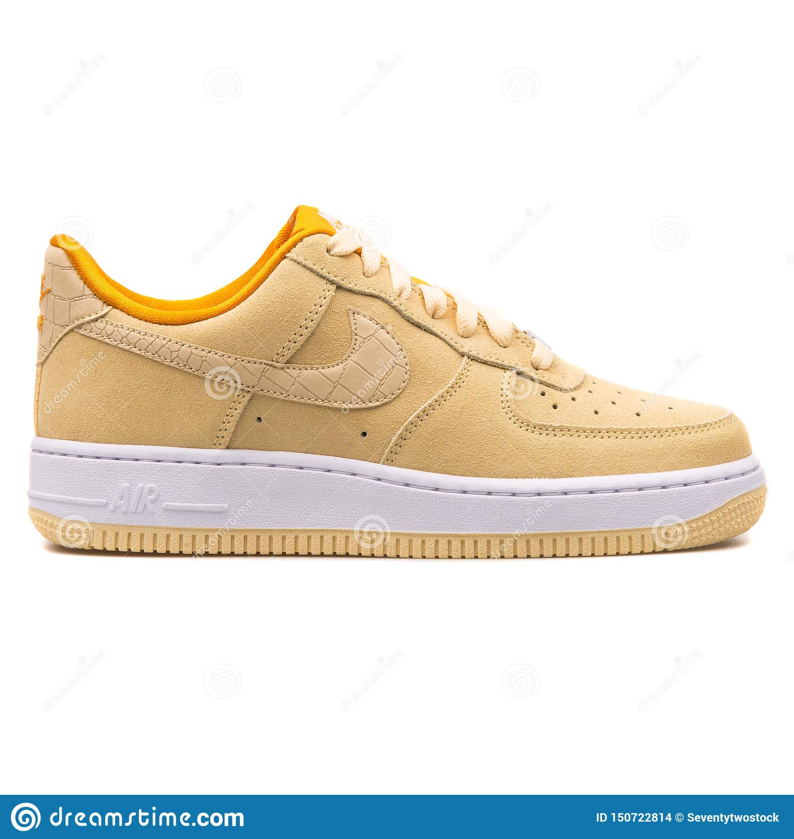 Nike Air Force 1 Zapatilla De Deporte Amarilla Limón