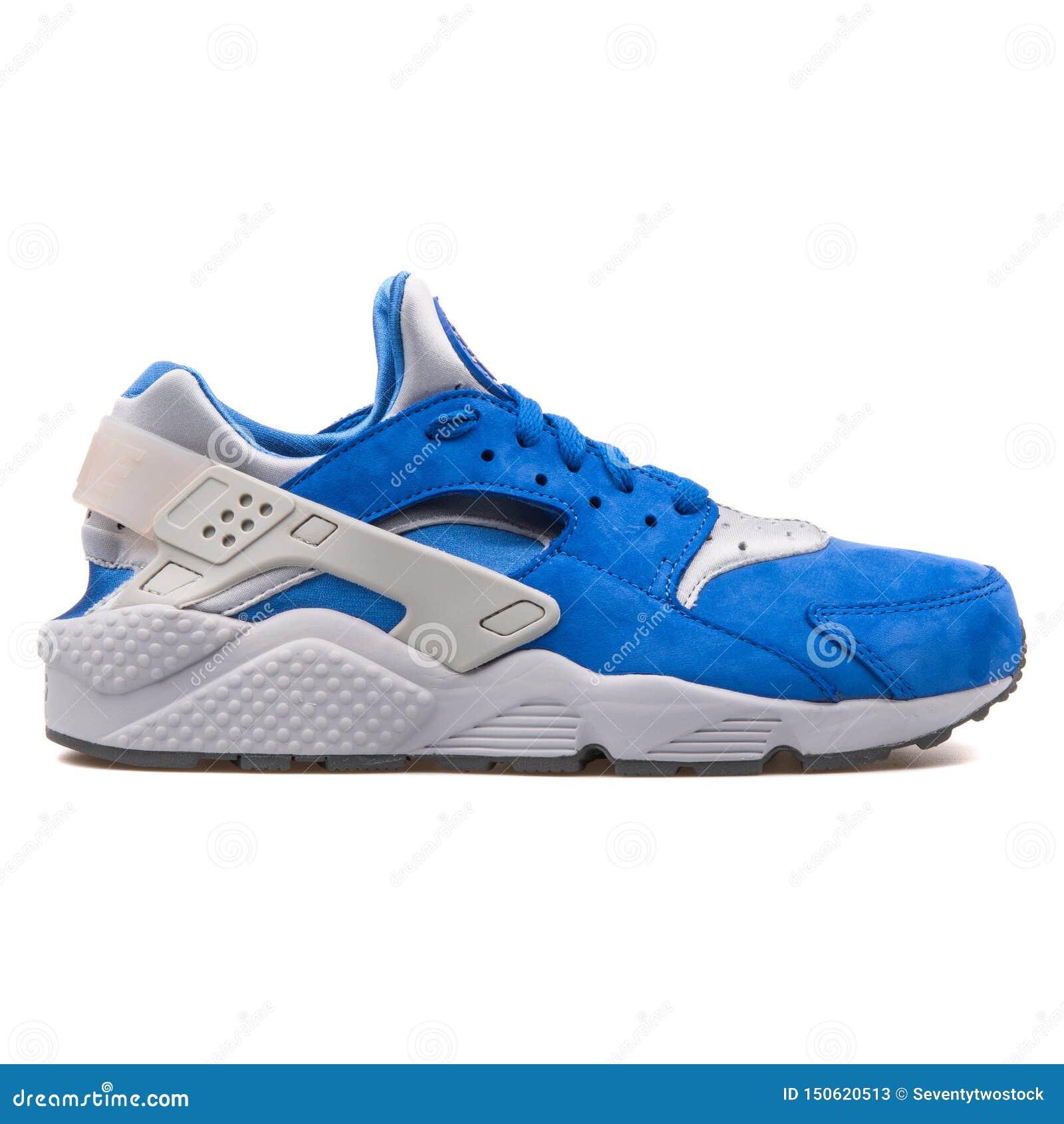Nike Air Huarache Run Premium Blue And Grey Sneaker Editorial ...