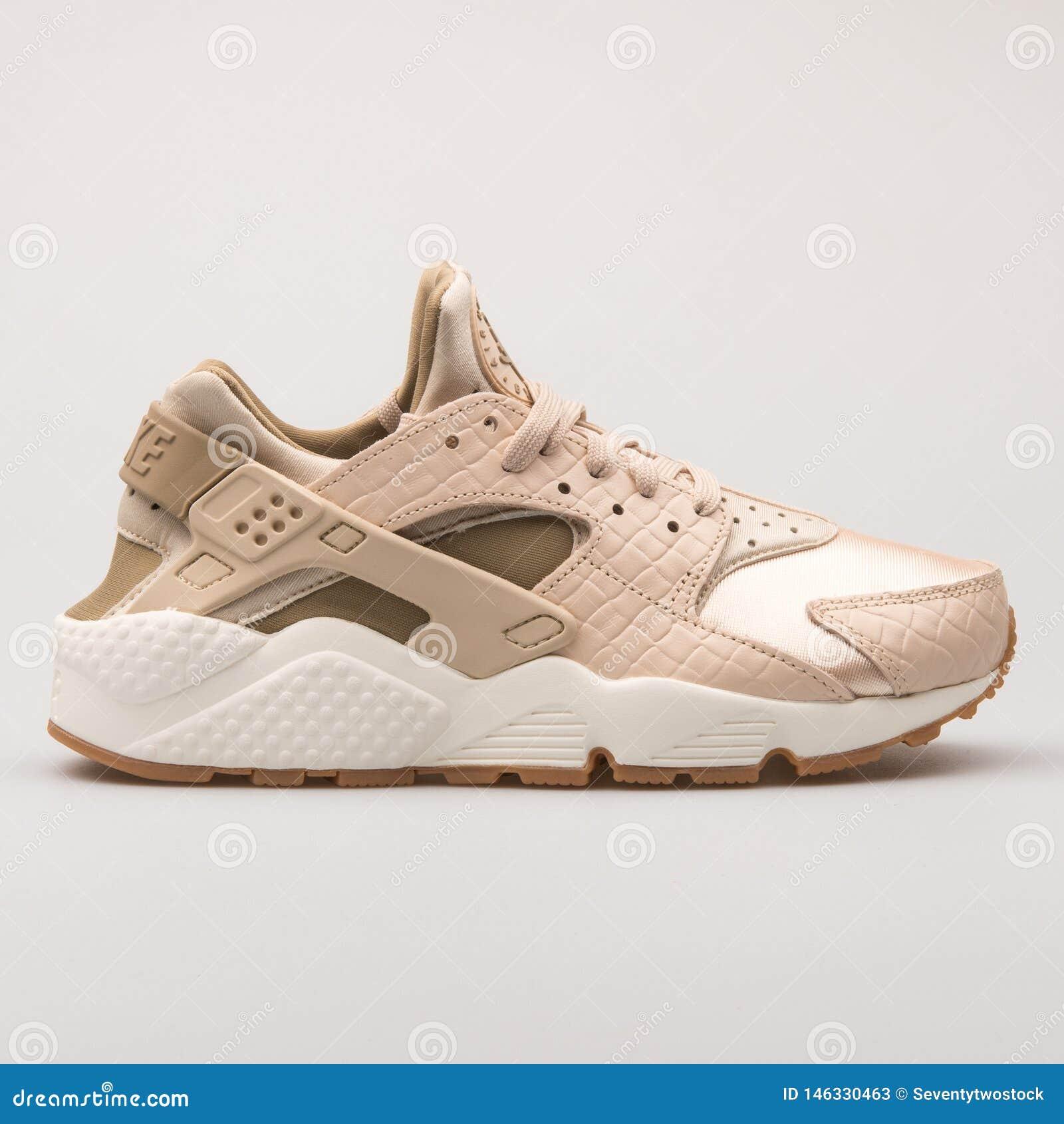 Nike Air Huarache Run Premium Khaki Sneaker Editorial Stock Photo ...