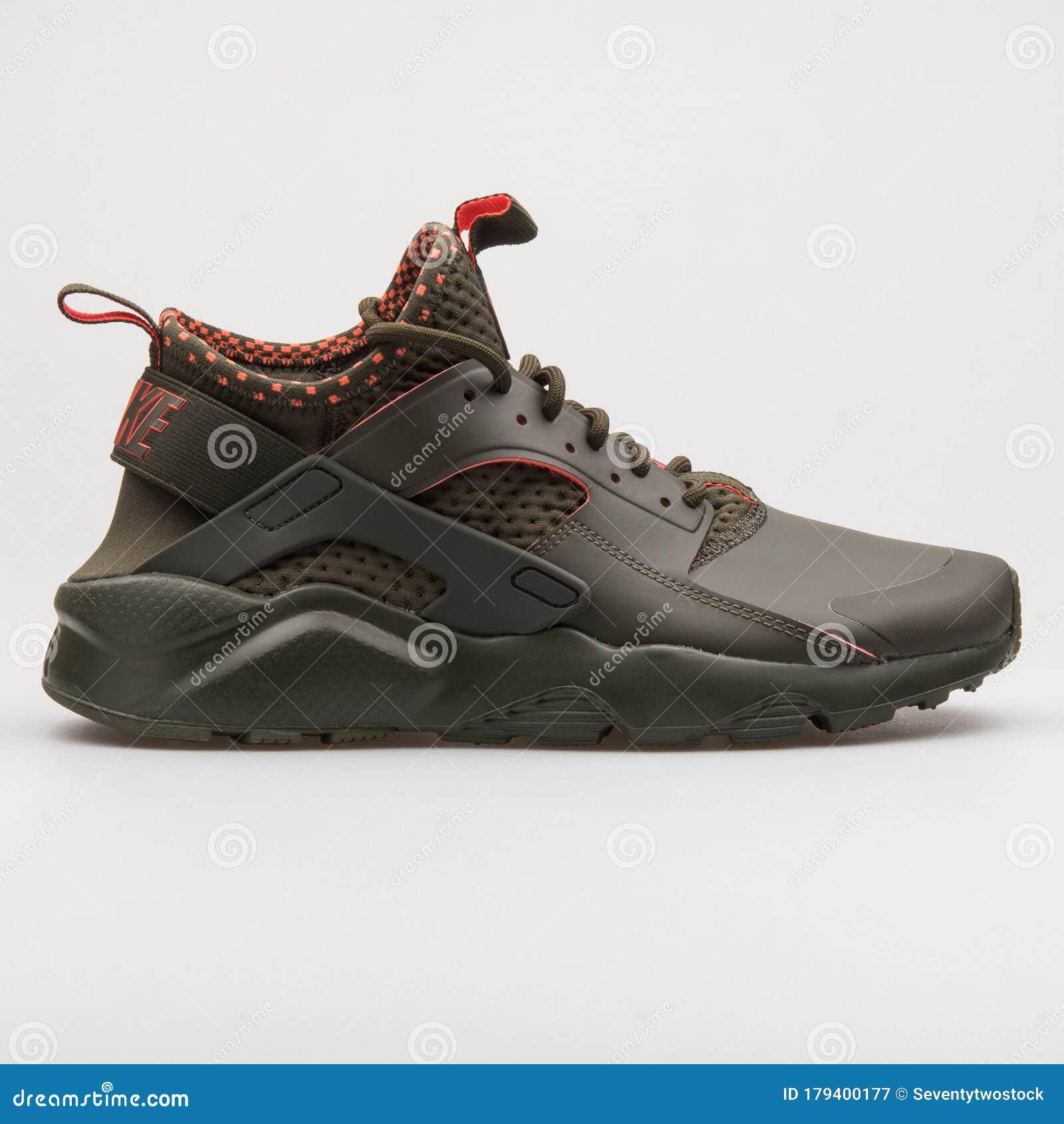 Nike Air Huarache Run Ultra SE Cargo Khaki And Crimson Sneaker ...