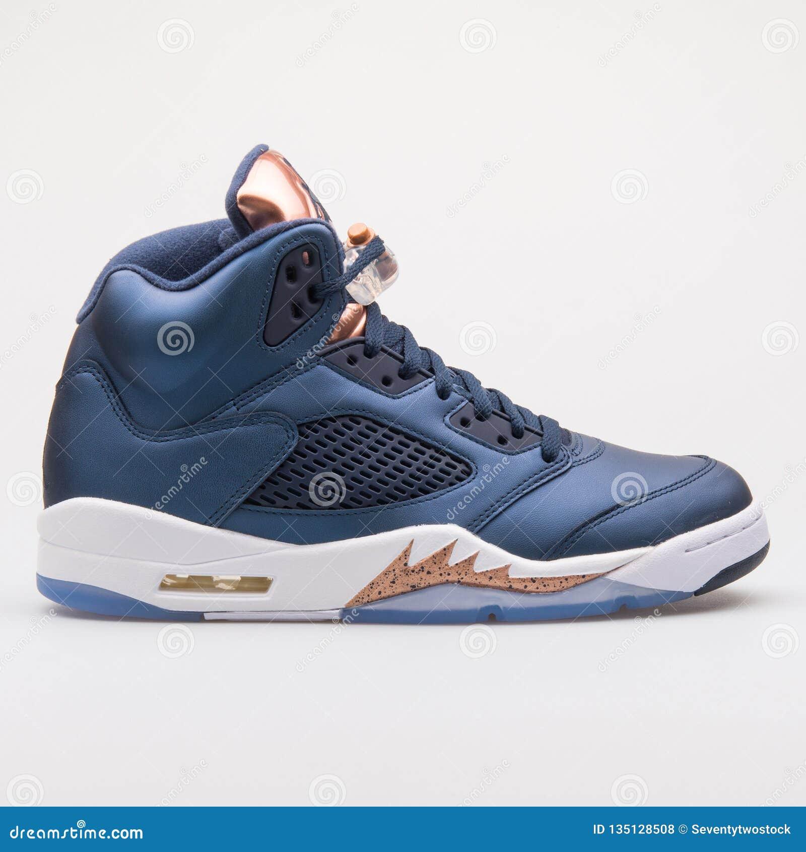 online store 70b97 57b03 Nike Air Jordan 5 Retro Blue And Bronze Sneaker Editorial ...