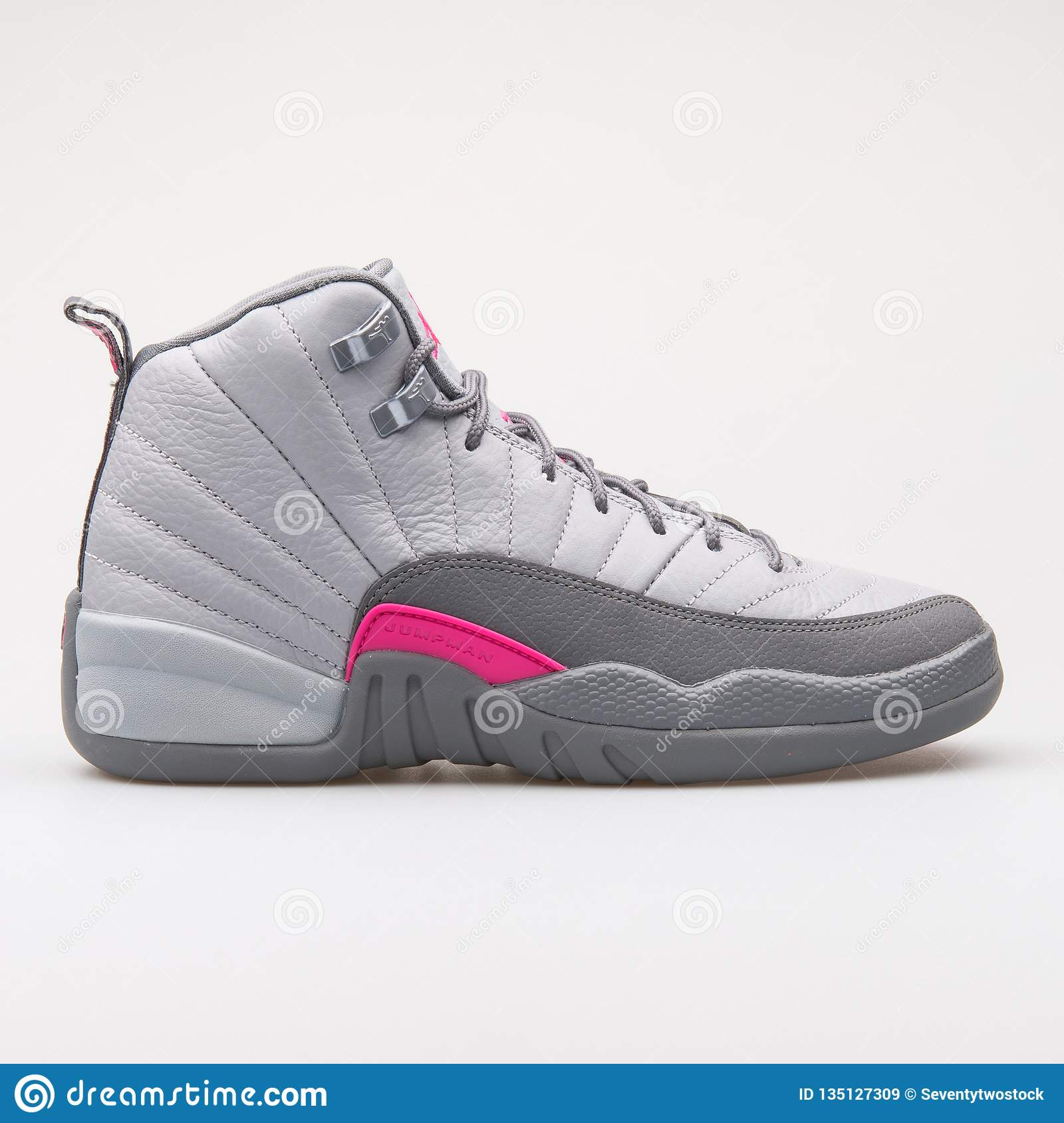 save off a3cb2 bc534 Nike Air Jordan 12 Retro GG grey and pink sneaker