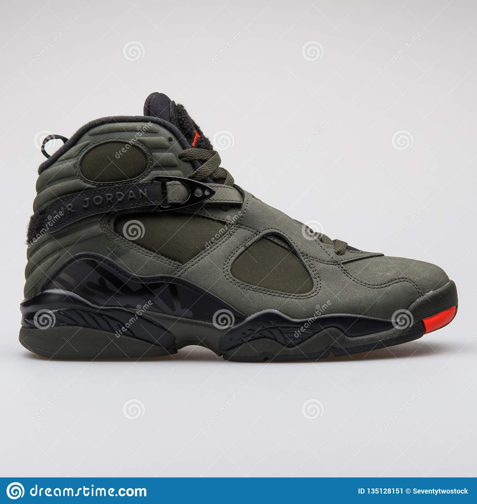 brand new a6bc6 2b8dc Nike Air Jordan 8 Retro Green, Black And Orange Sneaker ...