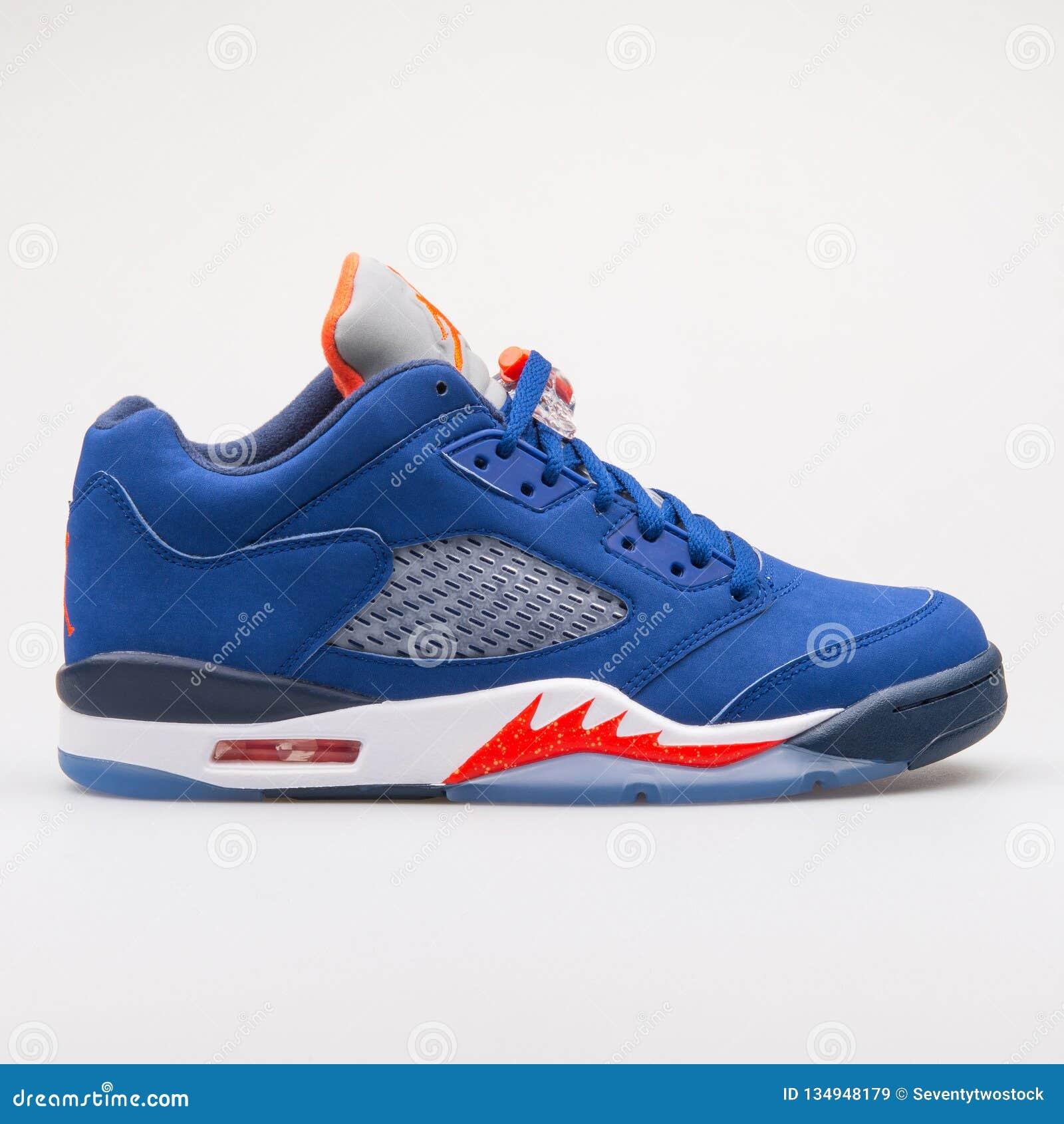 best loved aff8e 98f35 Nike Air Jordan 5 Retro Low Knicks Blue Sneaker Editorial ...