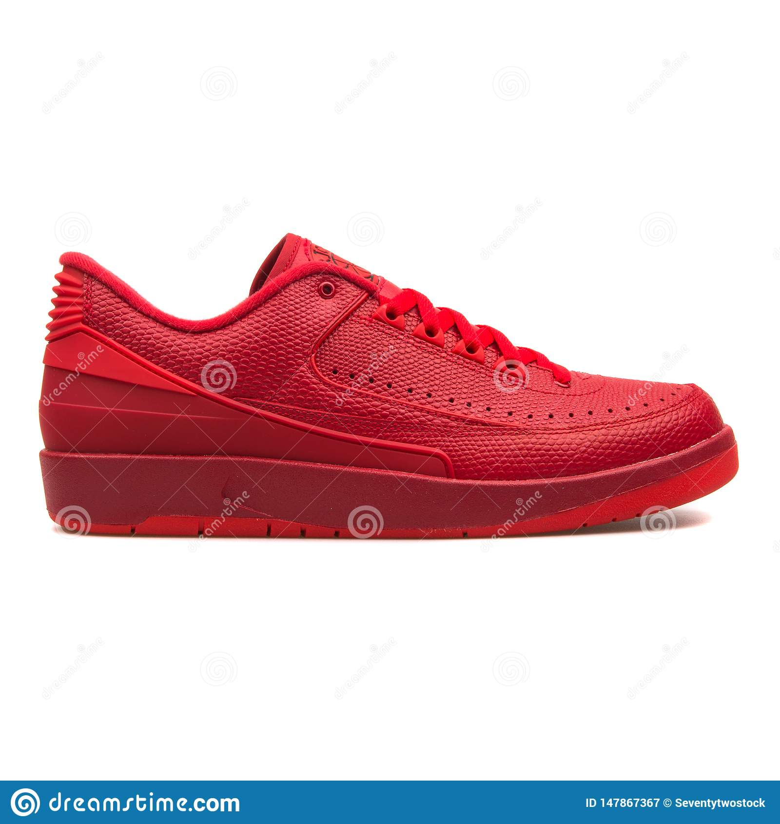 ebb07f17445 Nike Air Jordan 2 Retro Low Red Sneaker Editorial Photography ...