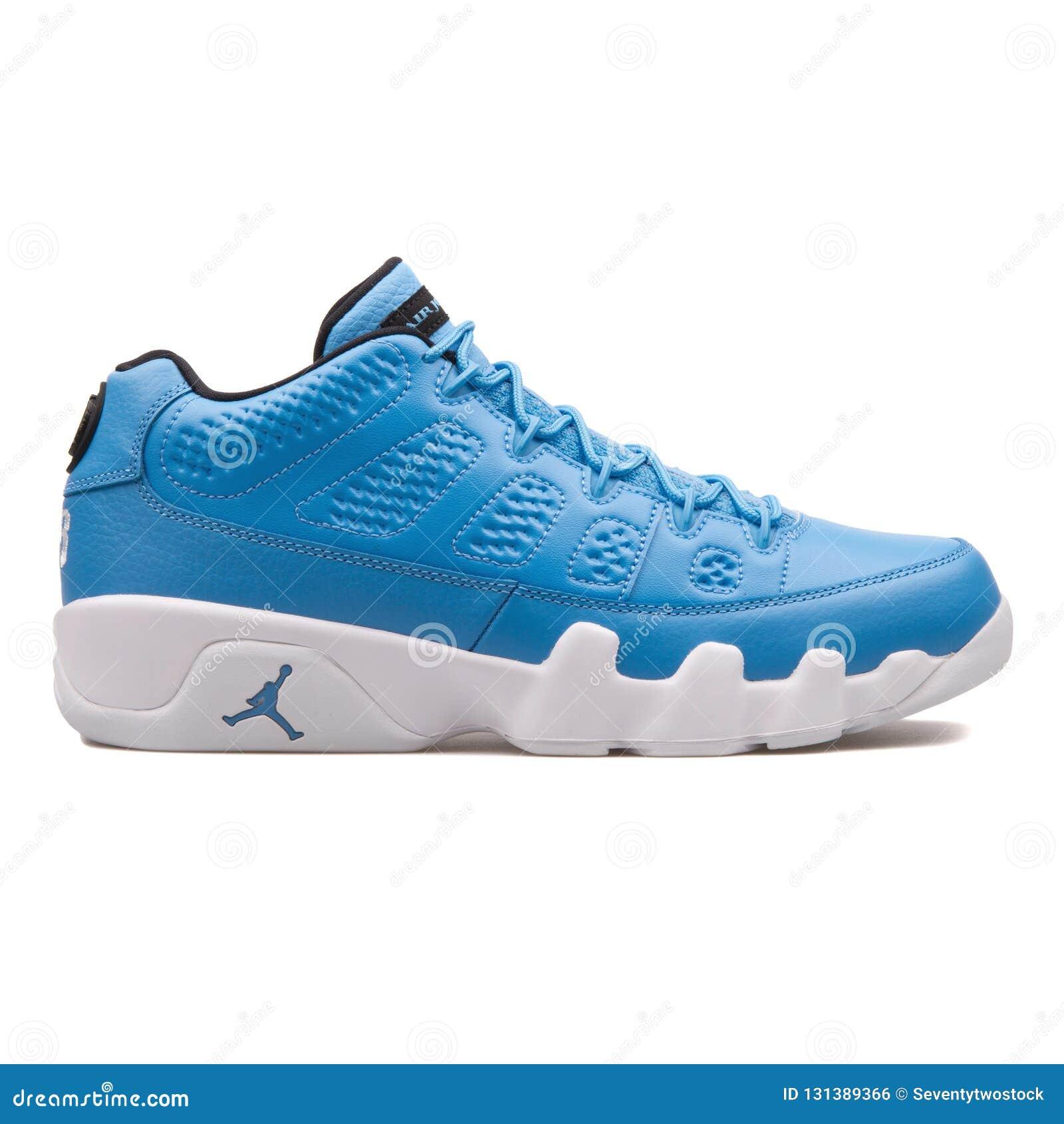 online retailer cf93f be98c Nike Air Jordan 9 Retro Low university blue sneaker isolated on white  background