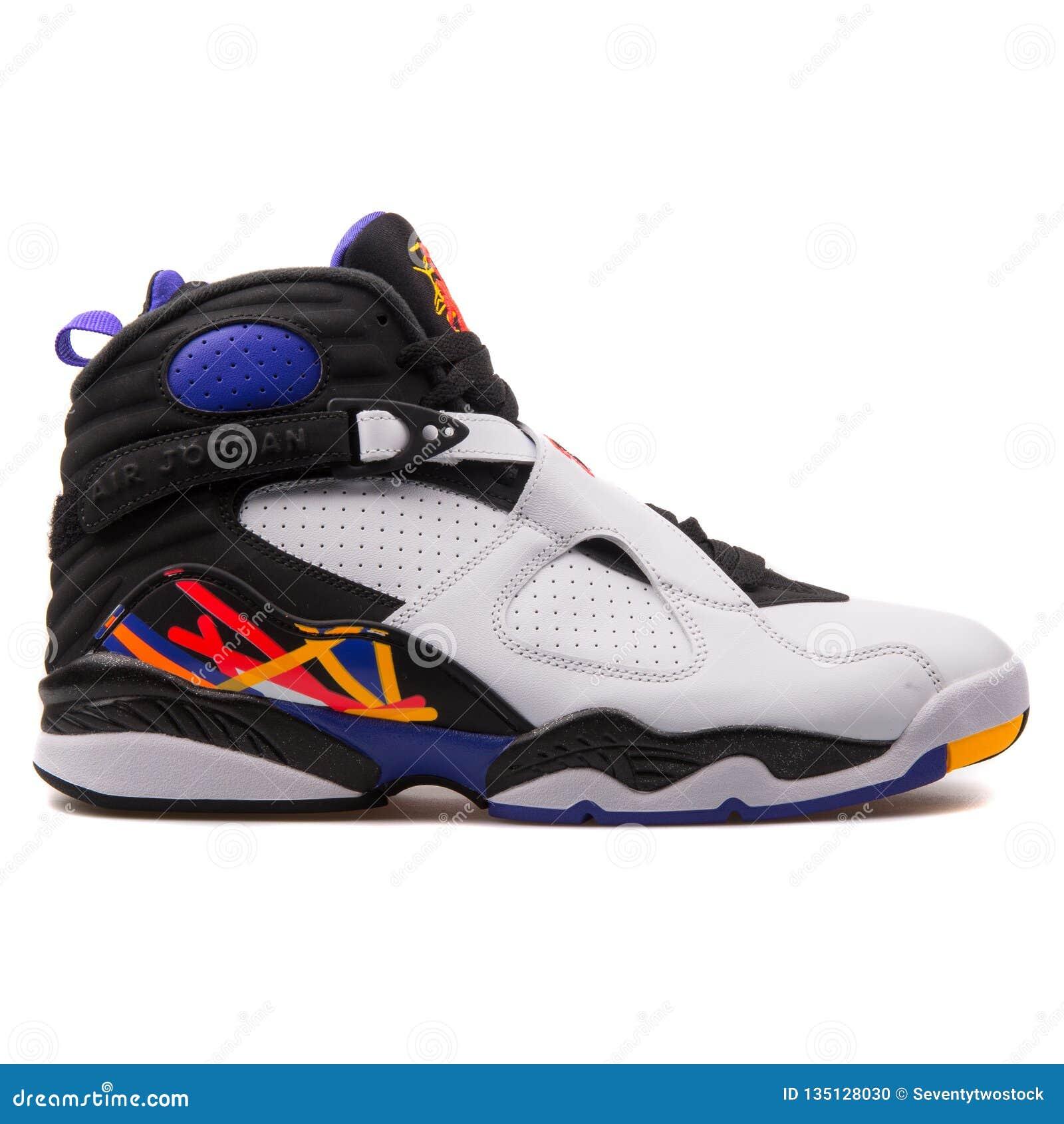 Nike Air Jordan 8 Retro White, Black