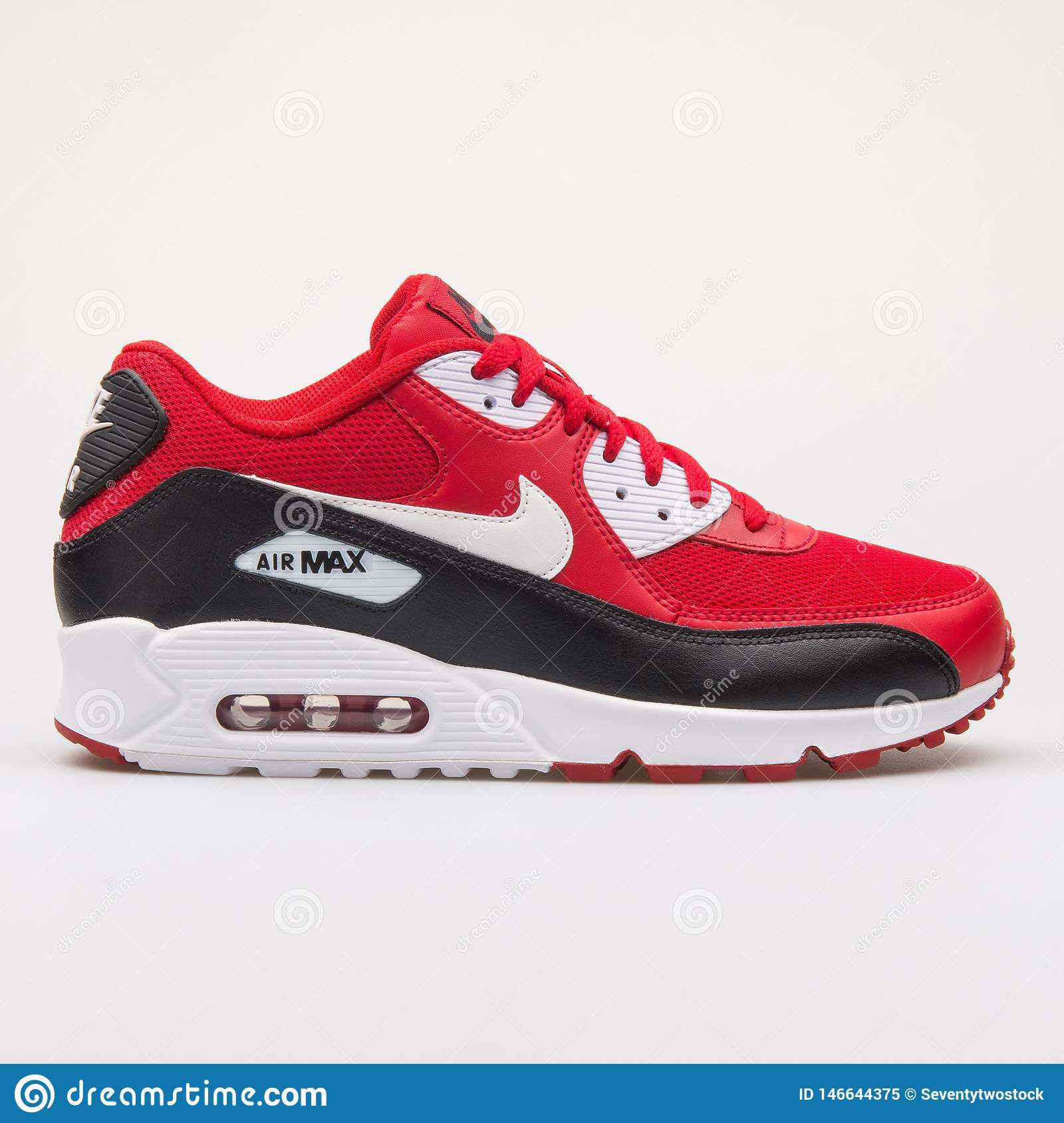 Nike Air Max 90 Essential Red, Black And White Sneaker