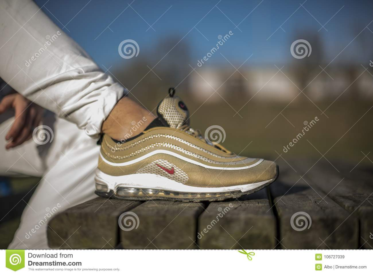 20592ba8e339d ... clearance nike air max 97 gold shoes in the street 38dc1 f1d8c