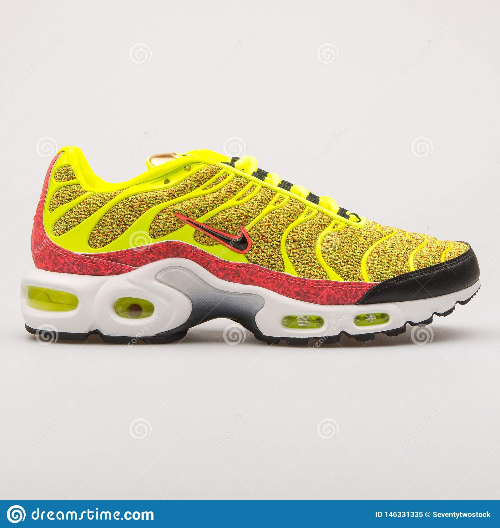 low priced 3305f fc89f Nike Air Max Plus SE Yellow Sneaker Editorial Image - Image ...