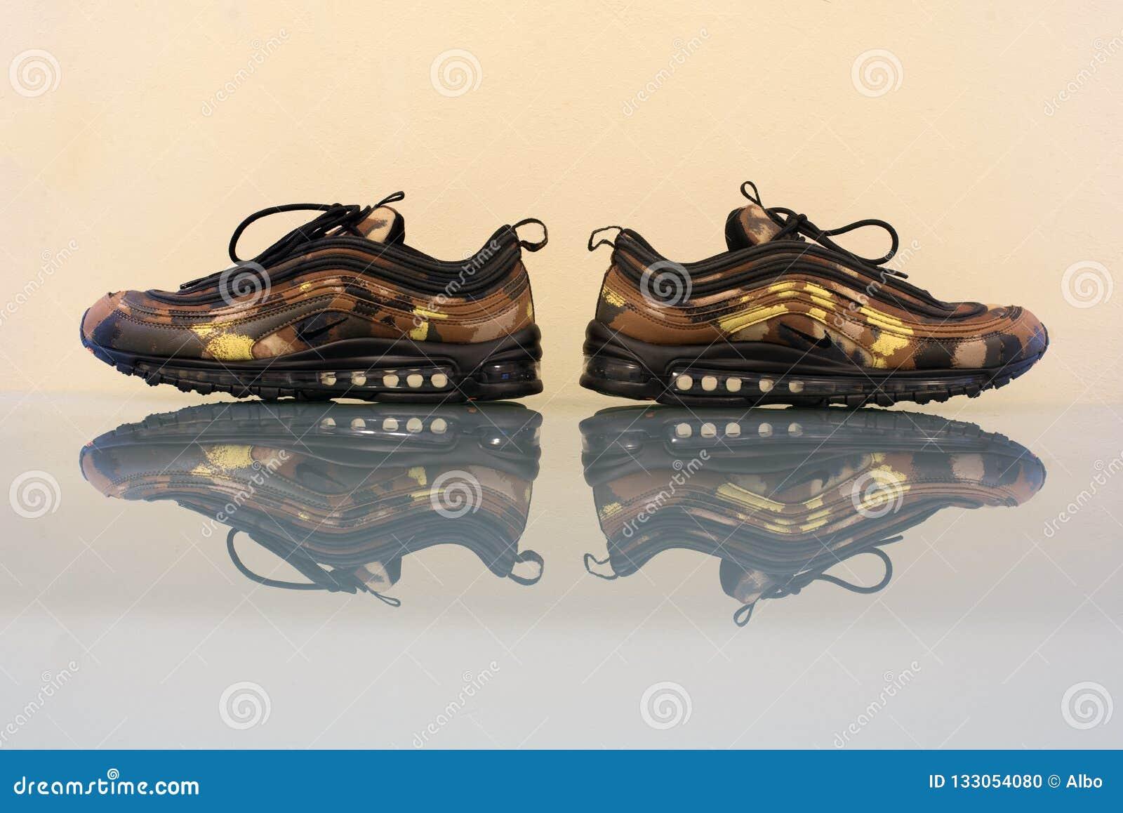 Nike Air Max 97 Premium Camo Pack Italy Editorial Image